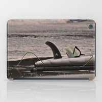 surfboard iPad Cases featuring Surfboard 1 by Becky Dix