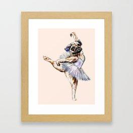 Pug Ballerina in Dog Ballet | Swan Lake  Framed Art Print