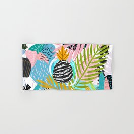 abstract palm leaves Hand & Bath Towel