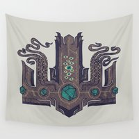 cthulhu Wall Tapestries featuring The Crown of Cthulhu by Hector Mansilla