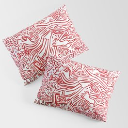 Collective tribal multiverse - red edition Pillow Sham