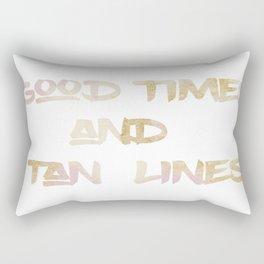 Good Times & Tan Lines Rectangular Pillow