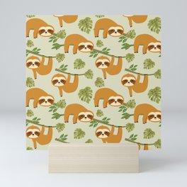 Cute Sloths in the Tropical Jungle, Baby Sloth Mini Art Print