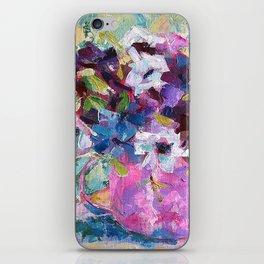 Blue Anemone Bouquet iPhone Skin