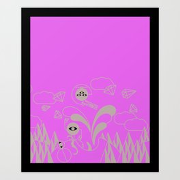 There is monsters in my head... Art Print