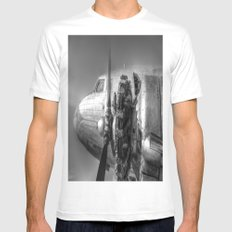 Russian Lisunov Li-2 MEDIUM White Mens Fitted Tee