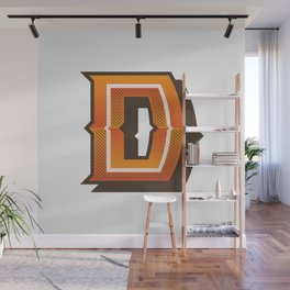 The Letter D Wall Mural