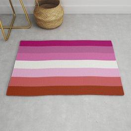Lesbian Flag Rug