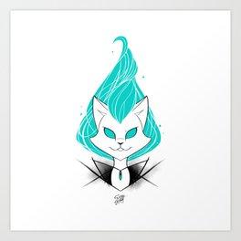 ScribbleNetty (Turquoise) Art Print