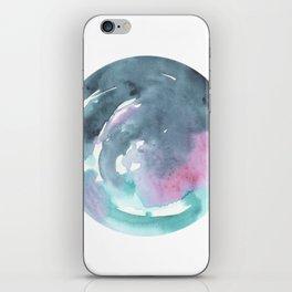 Blue Whirled iPhone Skin