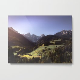 Swiss Greens Metal Print