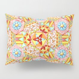 Pink Paisley Hexagons Pillow Sham