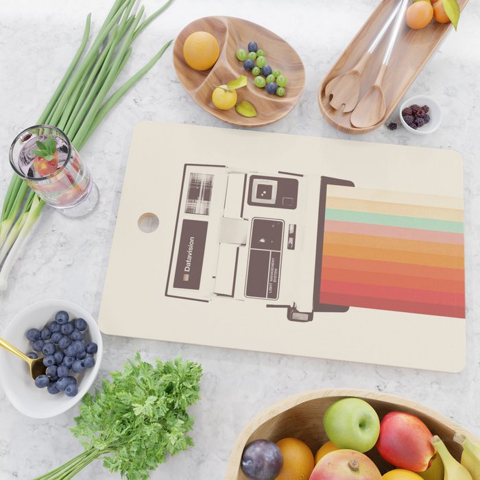 Instant Camera Rainbow Cutting Board