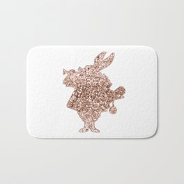 Sparkling rose gold Mr Rabbit Bath Mat