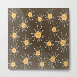 Mid-Century Atomic Starburst Pattern Metal Print
