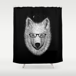 WHITE SPECTACLE Shower Curtain