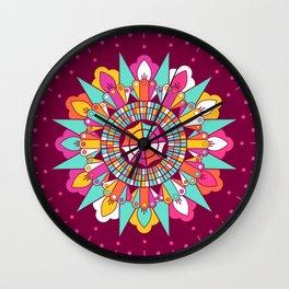 Mandala III Wall Clock