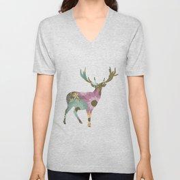 Floral Deer 01 Unisex V-Neck