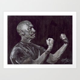 Awesome Art, Home Decor, Mustache art, The Handsome Boxer Art Print