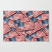 american Canvas Prints featuring American by Erwin de Gruil