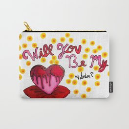 Will You Be My Valentine? Carry-All Pouch