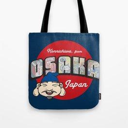 Konnichiwa from Osaka, Japan (Dotonbori) Tote Bag
