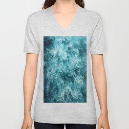 Blue Ocean Waves Unisex V-Neck