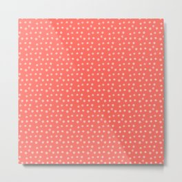 Paint Polka Dots on Coral Metal Print