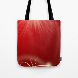 colorful red decor element style modern pattern Tote Bag