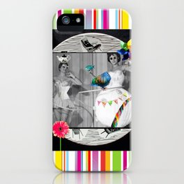Hooping Homemakers with a blue fish (and other things) iPhone Case