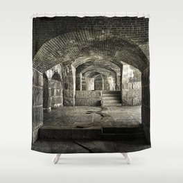 Casemate Carriage Shower Curtain