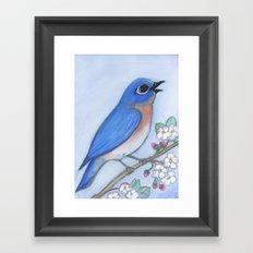 Bluebird & Blossoms Framed Art Print