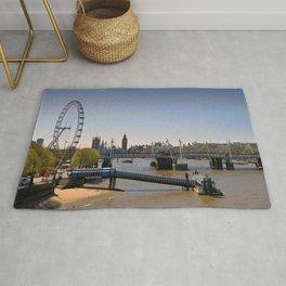 London Eye Houses of Parliament England Rug