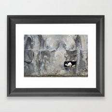 The cat and the nude Framed Art Print