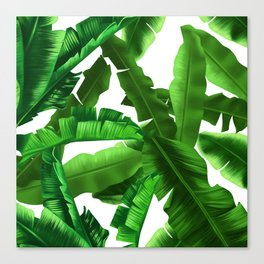 tropical banana leaves pattern Canvas Print