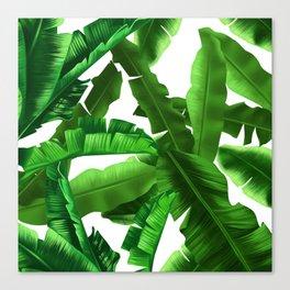 tropical banana leaves pattern Canvas Print