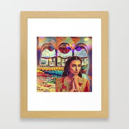 Lady of Shallot Framed Art Print