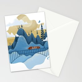 Mountain Race Stationery Cards