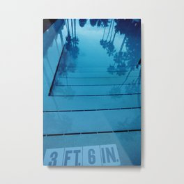 Poolside, Miami.  Metal Print