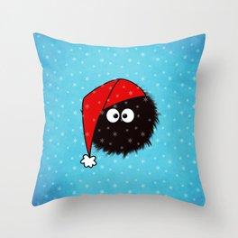 Cute Dazzled Bug Christmas Throw Pillow