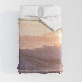 Ocean sunset Comforters