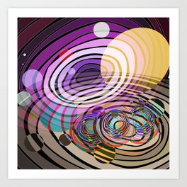 Outer Limit - Purple Art Print