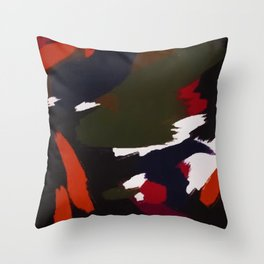 Winter Galaxy Abstract Artistic Brushstrokes Throw Pillow