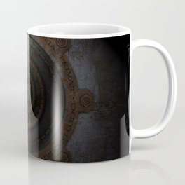 Steampunk Moon Clock Time Metal Gears Coffee Mug