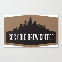 SOS Coldbrew Vintage Advert Canvas Print