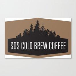 SOS Coldbrew Vintage Advert Canvas Print