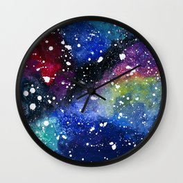 Candy Galaxy Wall Clock