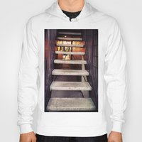 concrete Hoodies featuring Concrete stairway by Emily Lomax