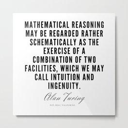 6   | Alan Turing Quotes  | 190716 | Metal Print