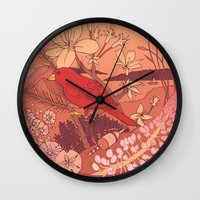 maine Wall Clocks featuring Maine by Lauren Rakes